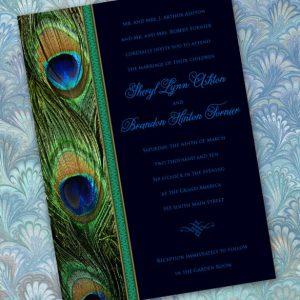 peacock wedding invitations emerald peacock wedding invitations