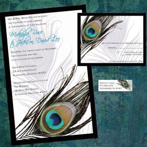 peacock wedding invitations il fullxfull