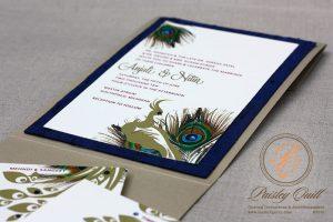 peacock wedding invitations peacock closeup