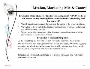 performance evaluation template zara marketing plan