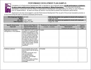 performance plan template