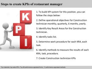 performance review forms restaurant manager kpi
