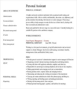 personal assistant resume experienced personal assistant resume