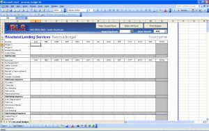 personal budget spreadsheet personal budget