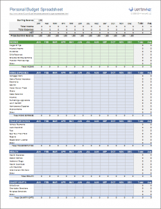 personal budget spreadsheet personal budget spreadsheet template