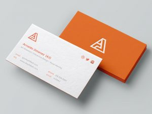 personal business card dribbble aj bcards