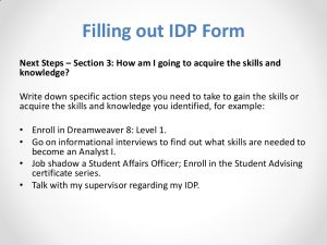 personal develop plan examples slide