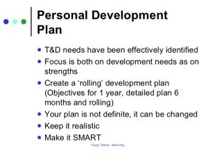 personal development plans example personal development plan mentoring