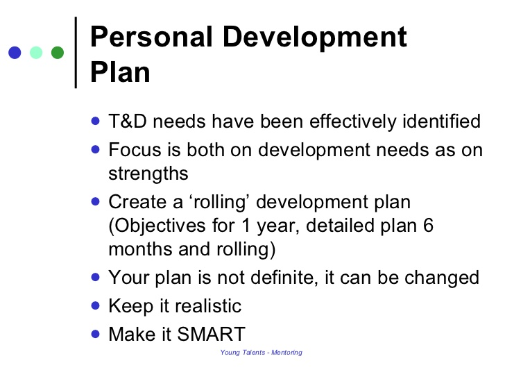 personal development plans examples