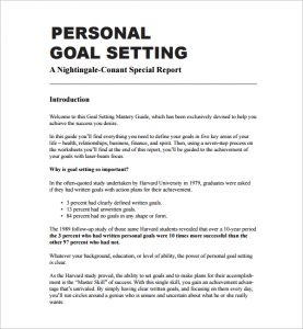 personal goal examples personal goal setting