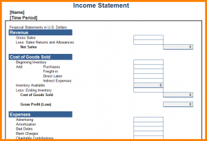 personal income statement template personal profit and loss statement template anuvratinfo