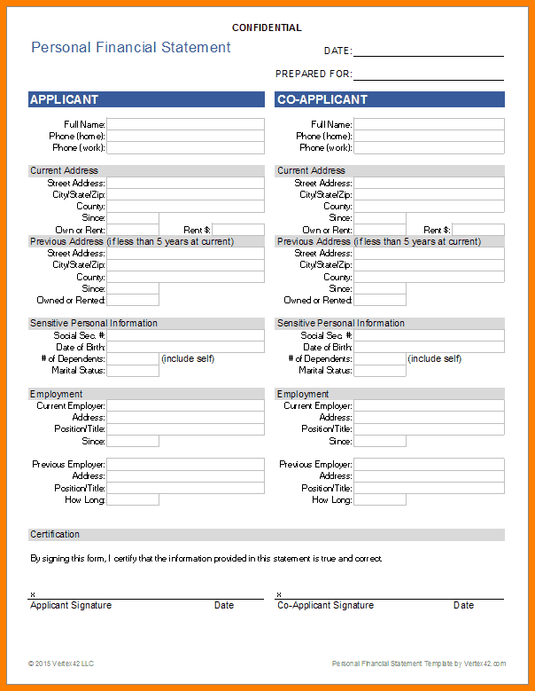 personal income statement template tier brianhenry co