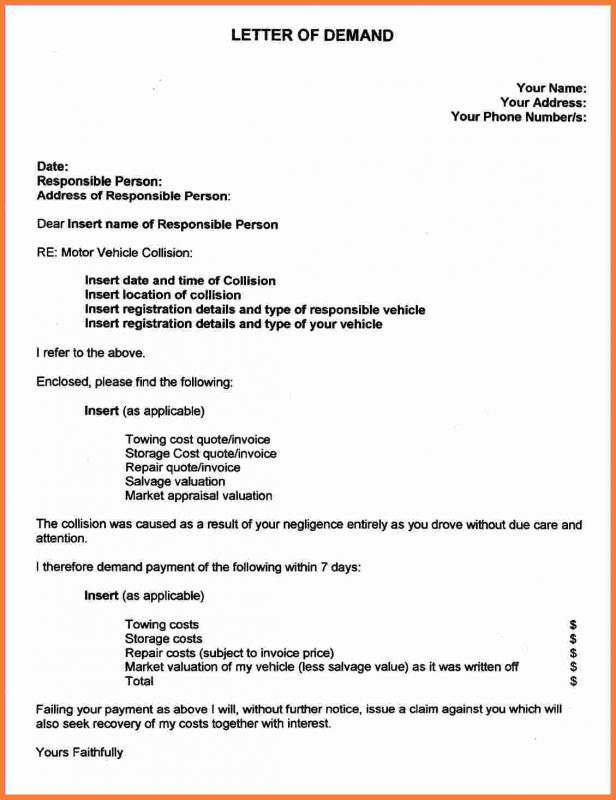 personal injury demand letter