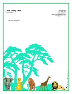 personal letterhead template personal letterhead jungle
