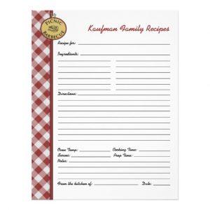 personal letterhead template picnic barbecue red checkered custom recipe page letterhead rceebddddbbcede vgg byvr