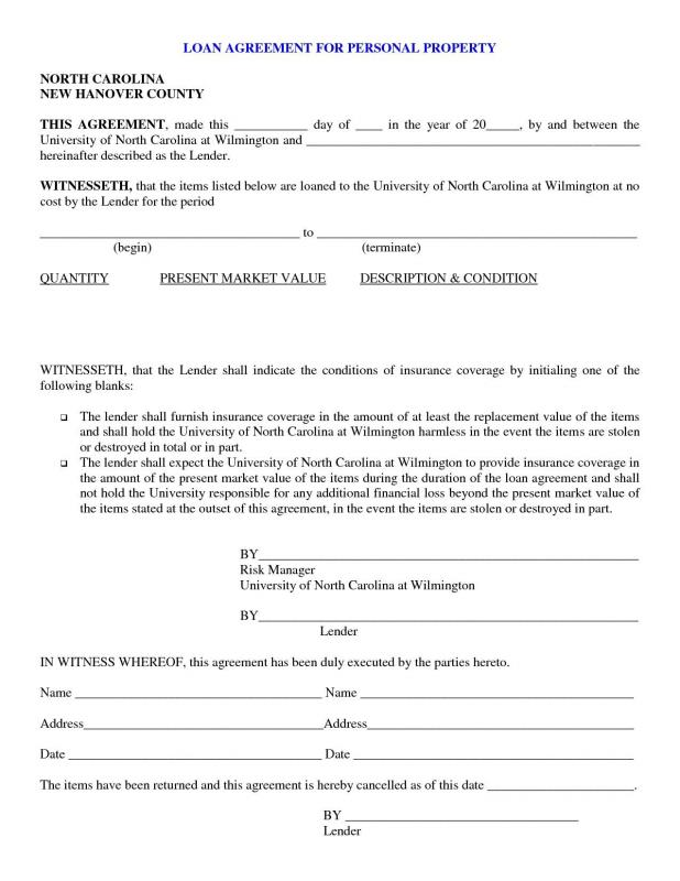 personal loan agreement pdf