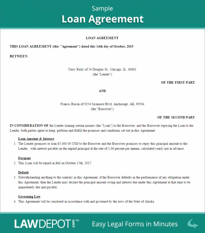 Personal Loan Agreement Templates  Personal Loan Agreements