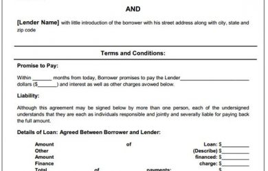 personal loan contract template doc sample loan agreement between family members