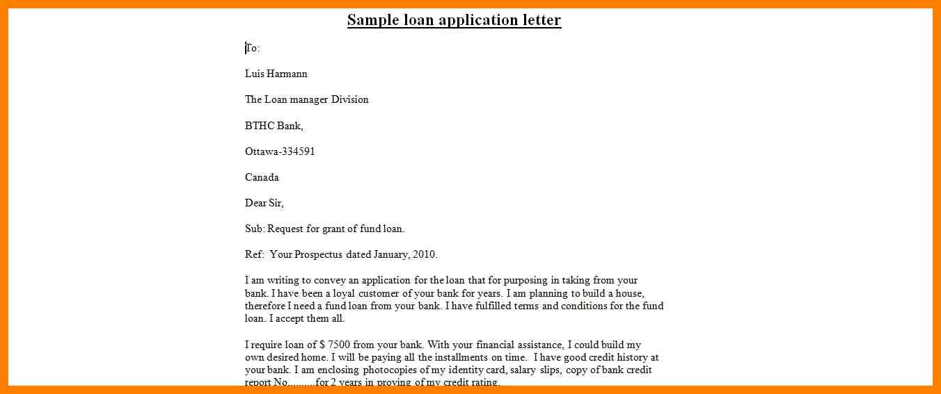 personal loan template