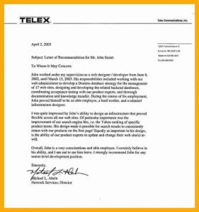personal loan template recommendation letter for employee lortelexcommunications