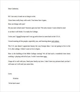 personal reference letter for a friend friendly letter format sample