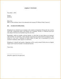 generic letter of recommendation personal reference letter template template business 45088
