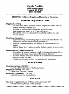 personal statement examples for graduate school shipping clerk resume sample