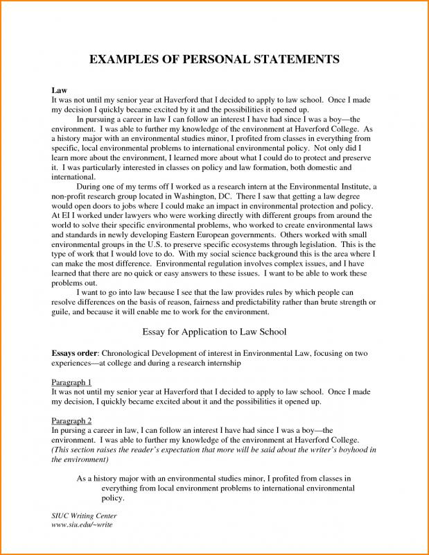 personal statement for graduate school examples