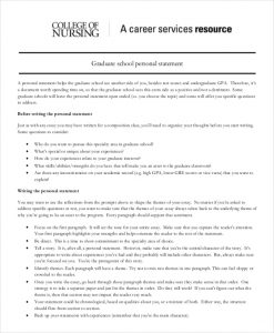 personal statement for graduate school examples nursing graduate school personal statement example
