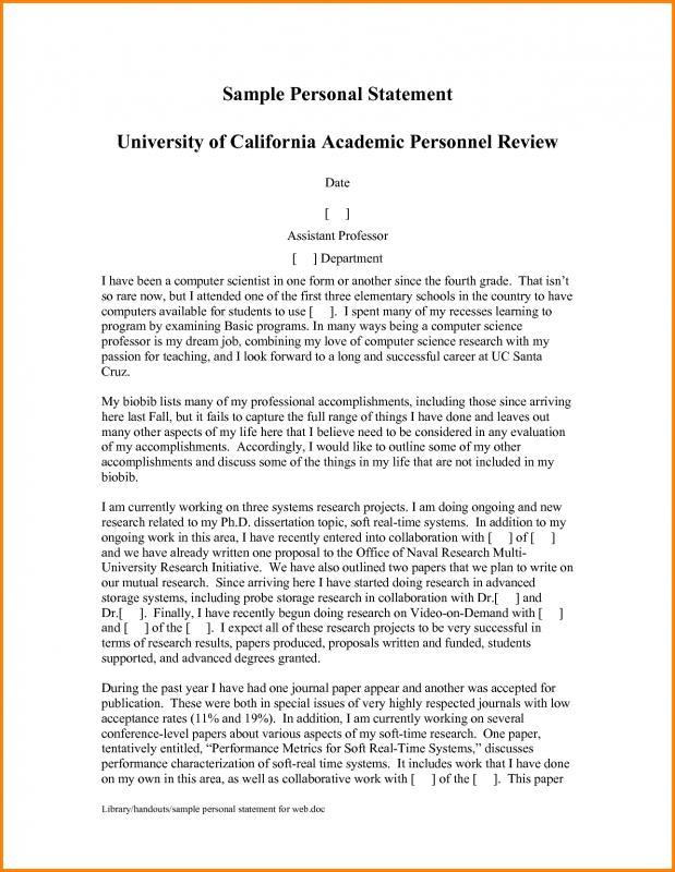 sample personal statement for graduate school
