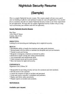 personal statement graduate school sample nightclub security resume sample