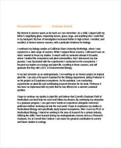 personal statement graduate school science graduate school personal statement example