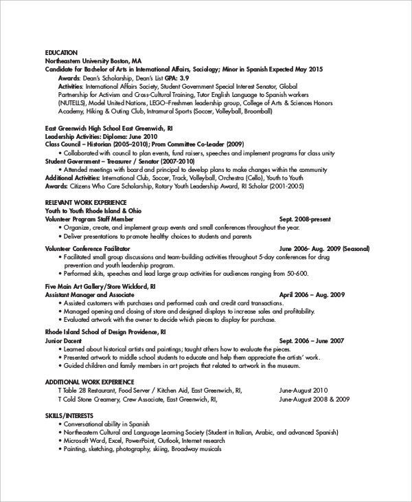 Business trainer resume sample