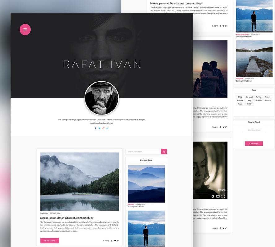 personal website template template business. Black Bedroom Furniture Sets. Home Design Ideas