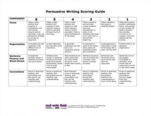 persuasive essays examples persuasive essay rubric th grade