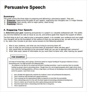 persuasive speech example persuasive speech examples outline