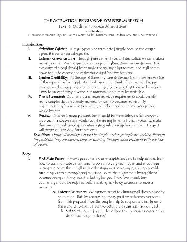 persuasive speech outlines