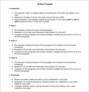 persuasive speech outlines outline template free download