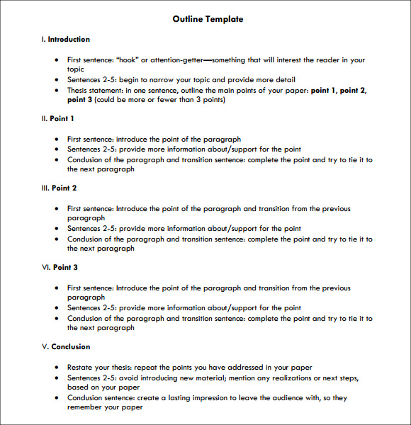 sentence outline example apa  apa research paper outline