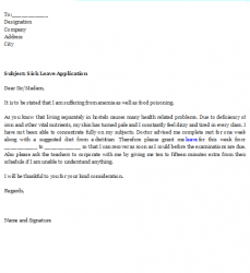 petition template word sick leave application sample format x