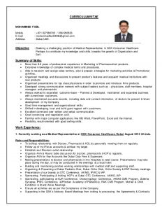 pharmacist resume sample mdfazil resume for the position of medical rep