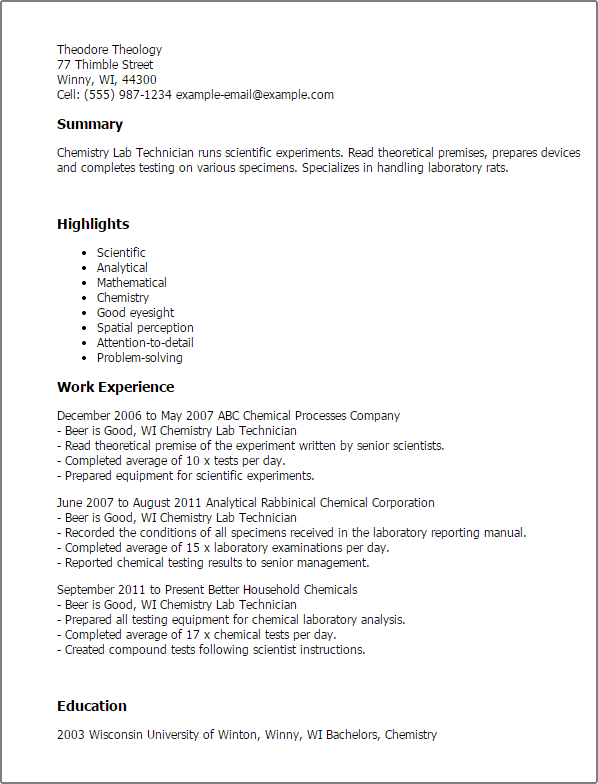 Phlebotomy Resume Sample  Phlebotomy Technician Resume