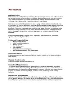 Phlebotomy Resume Sample Phlebotomist Resume Cover Letter Phlebotomy Resume  Certified Phlebotomist Resume Sample  Phlebotomist Cover Letter