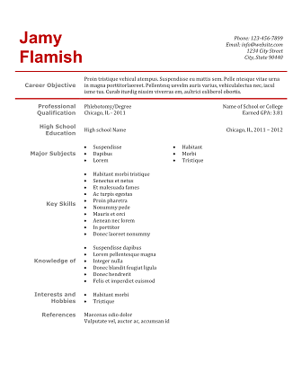 phlebotomy resume sample