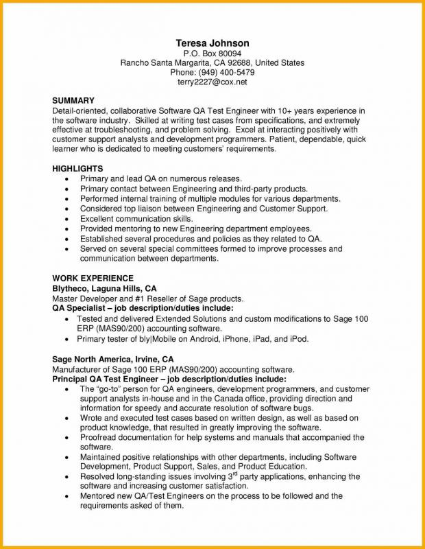 Phlebotomy Resume Sample  Qa Resume Sample
