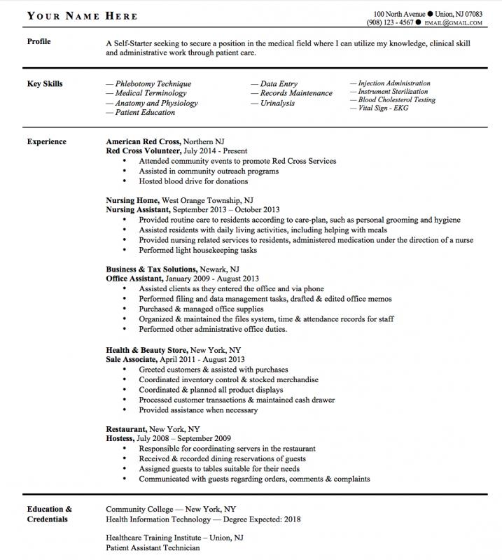 Phlebotomy Resume Sample  Phlebotomist Resume Sample