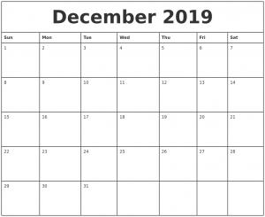 photo calendar template december printable monthly calendar