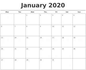 photo calendar template january free calendar template monday start