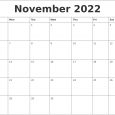 photo calendar template november monthly printable calendar