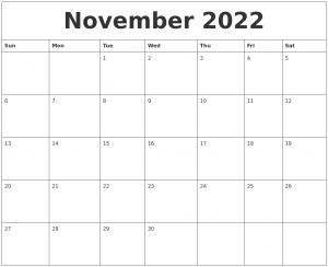 photo calendar template november monthly printable calendar